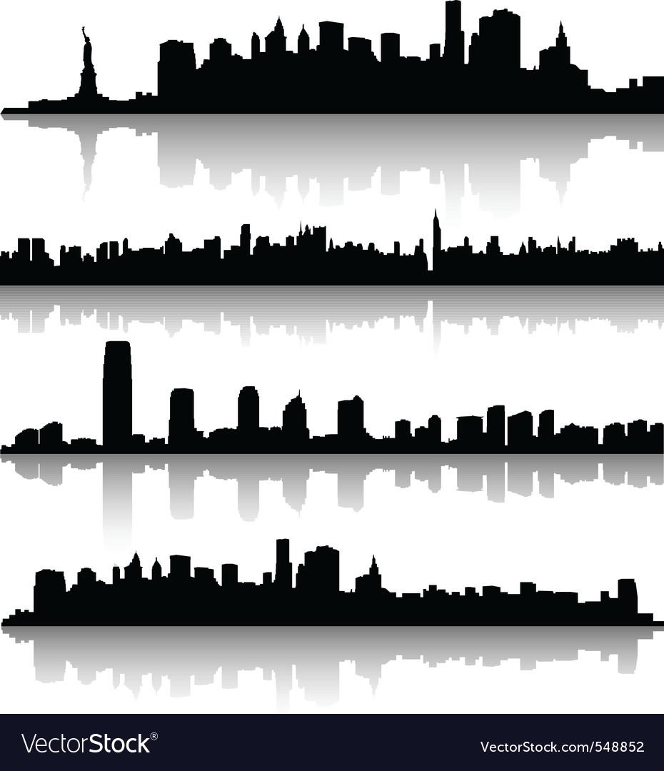 New york city silhouette vector | Price: 1 Credit (USD $1)