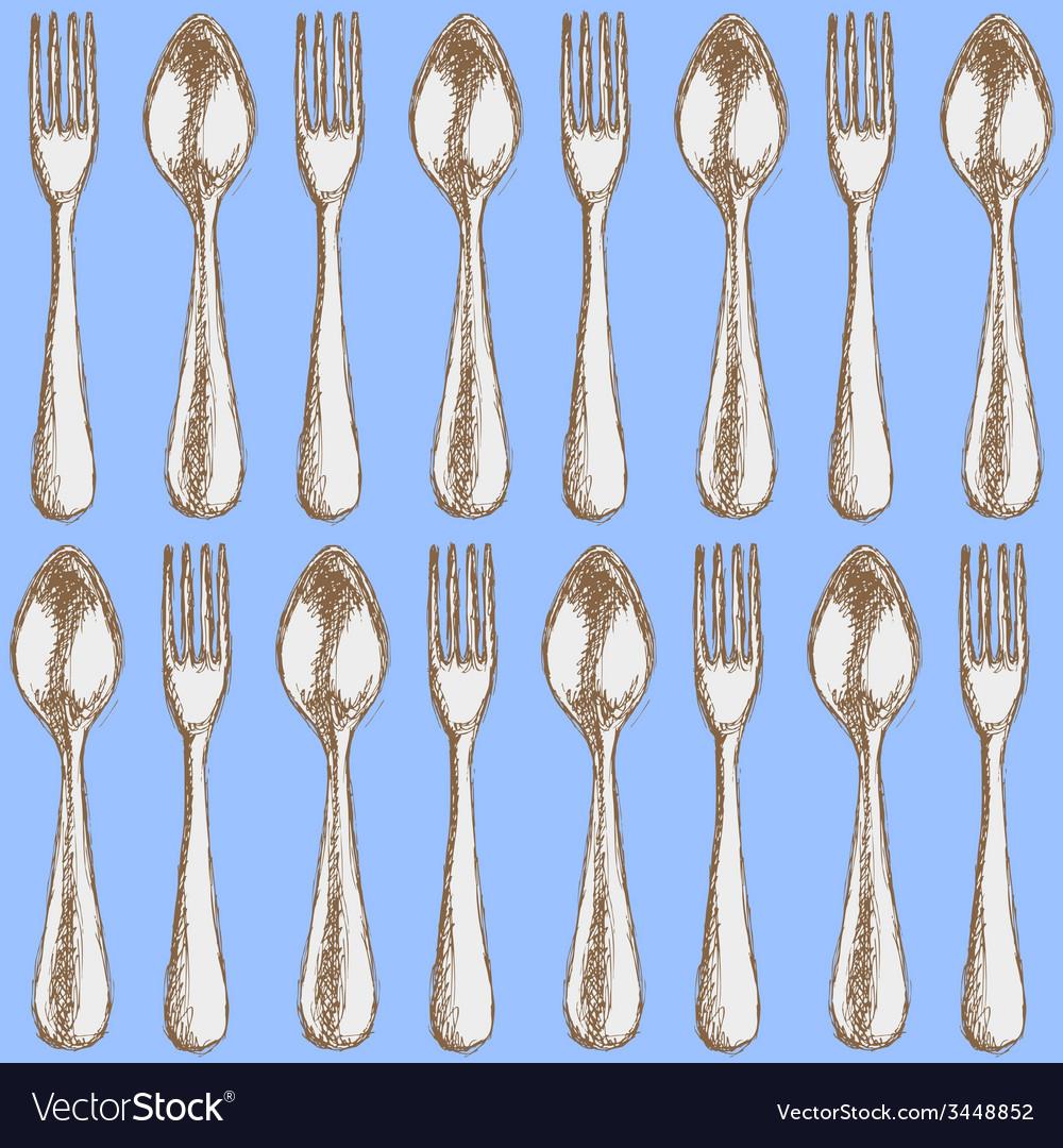 Sketch utencil in vintage style vector | Price: 1 Credit (USD $1)