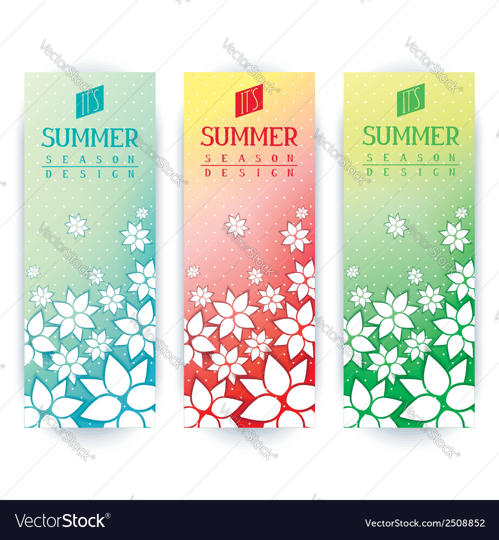 Summer flyers design vector | Price: 1 Credit (USD $1)