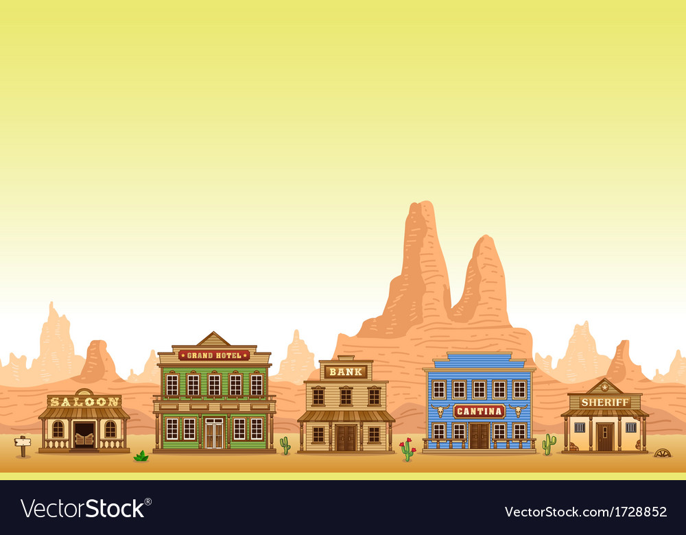 Wild west town vector | Price: 3 Credit (USD $3)