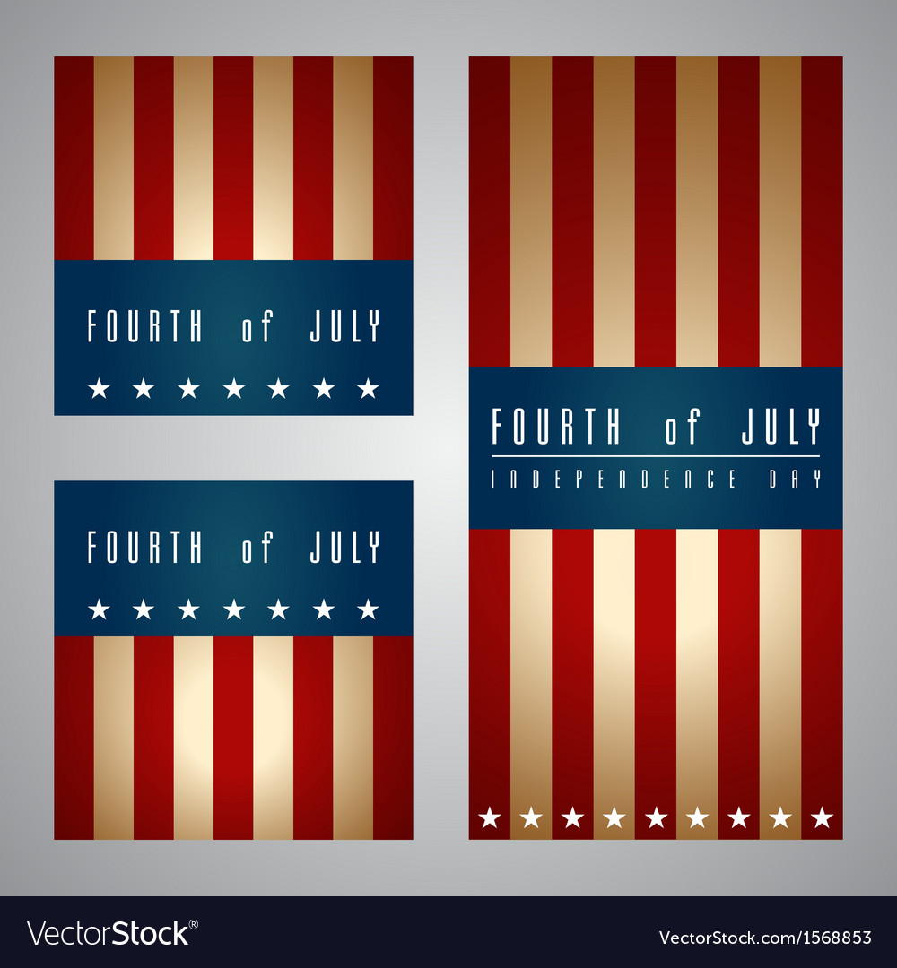 4th of july card and template vector | Price: 1 Credit (USD $1)