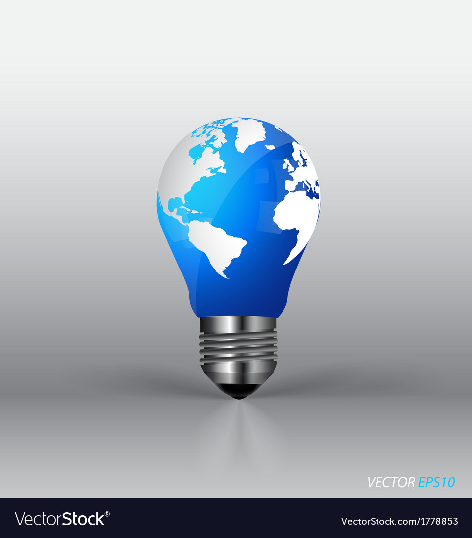 A light bulb with modern globe vector | Price: 1 Credit (USD $1)