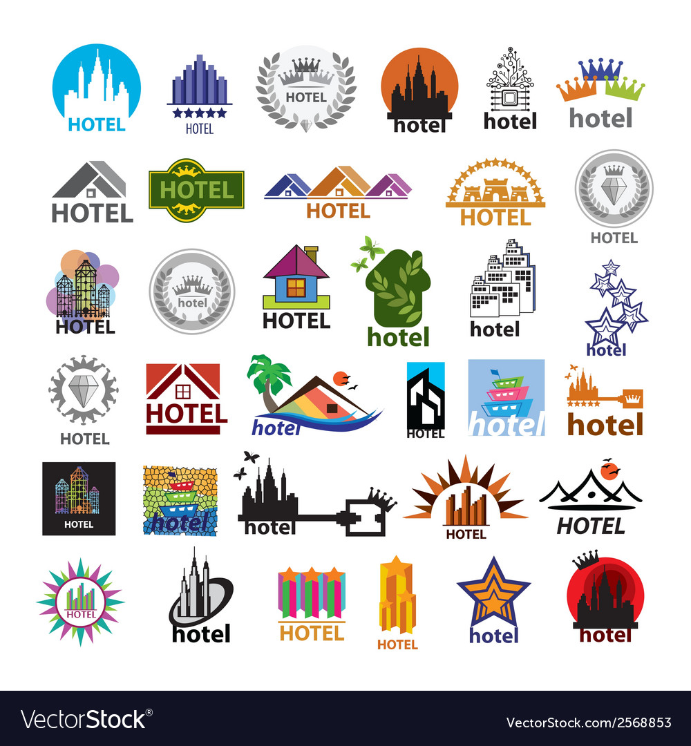 Biggest collection of logos hotels for leisure vector | Price: 1 Credit (USD $1)