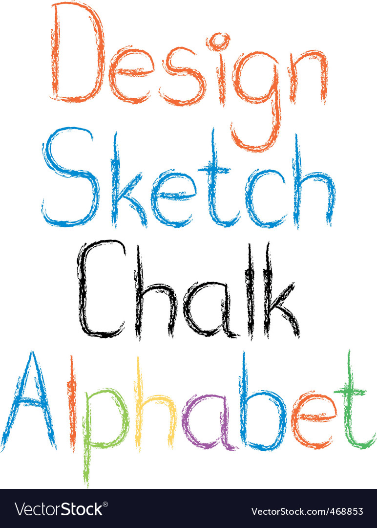 Chalk letters vector | Price: 1 Credit (USD $1)