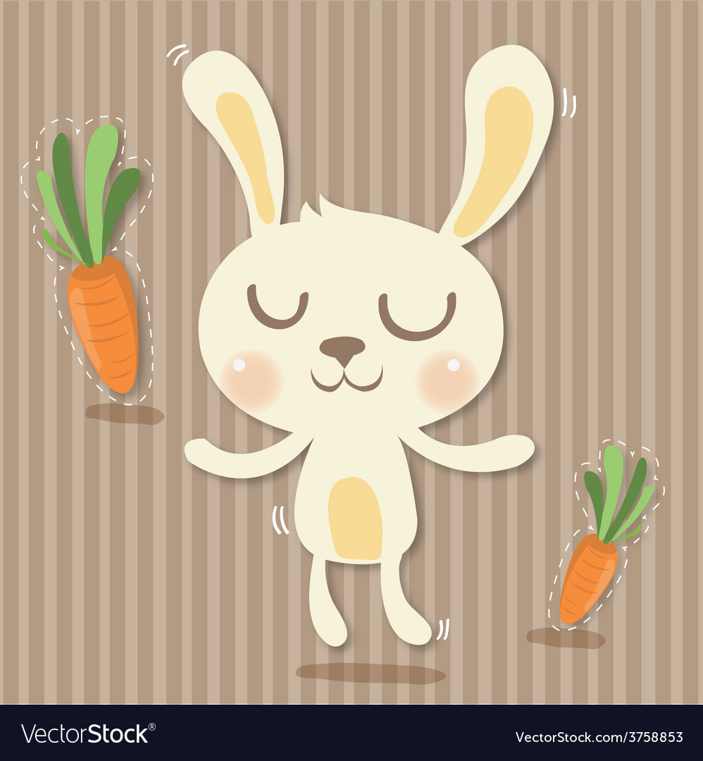 Cony and carrots vector | Price: 1 Credit (USD $1)