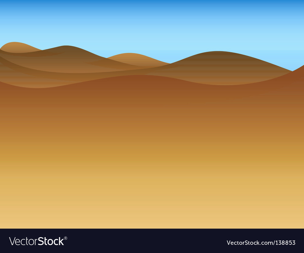 Drought landscape vector | Price: 1 Credit (USD $1)