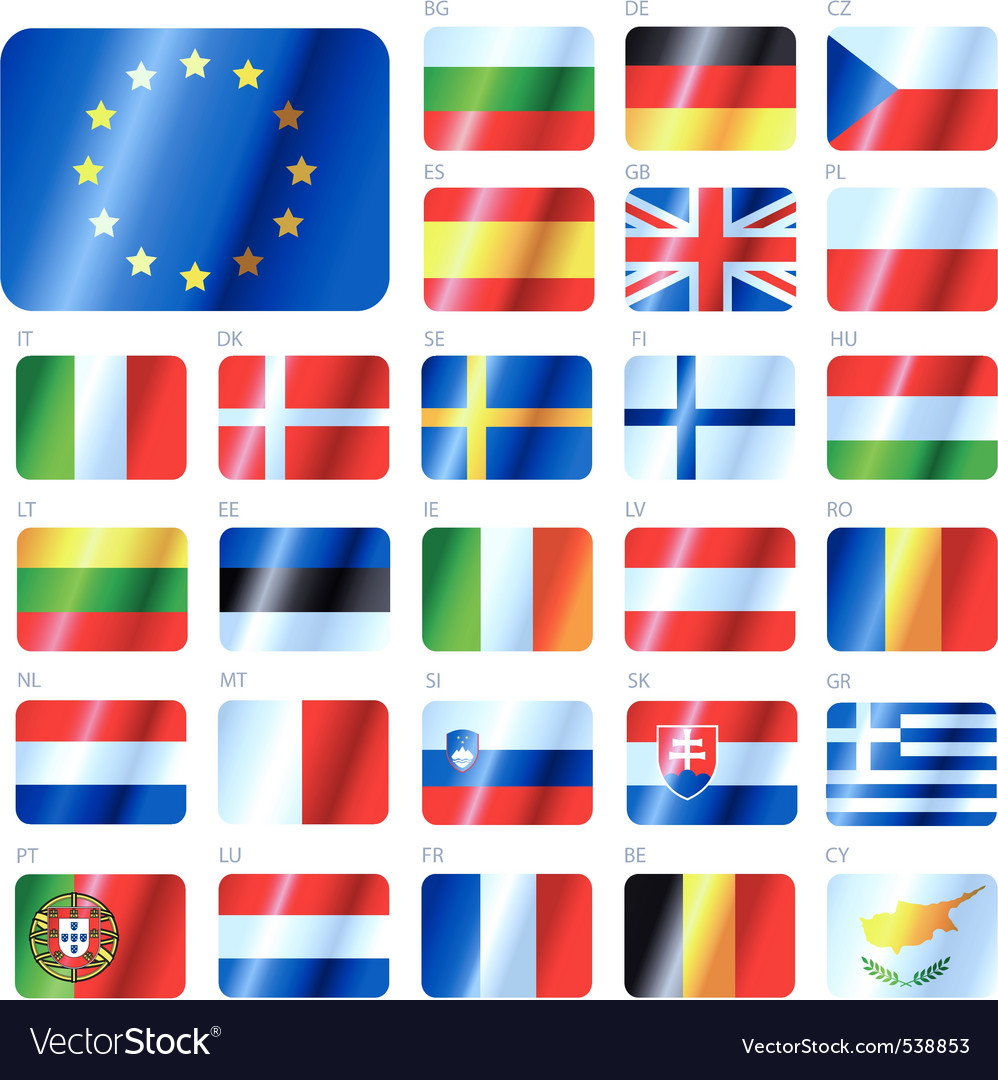 European union flags vector | Price: 1 Credit (USD $1)