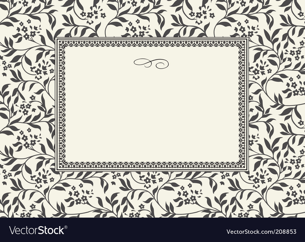Floral pattern and decorative frame vector | Price: 1 Credit (USD $1)