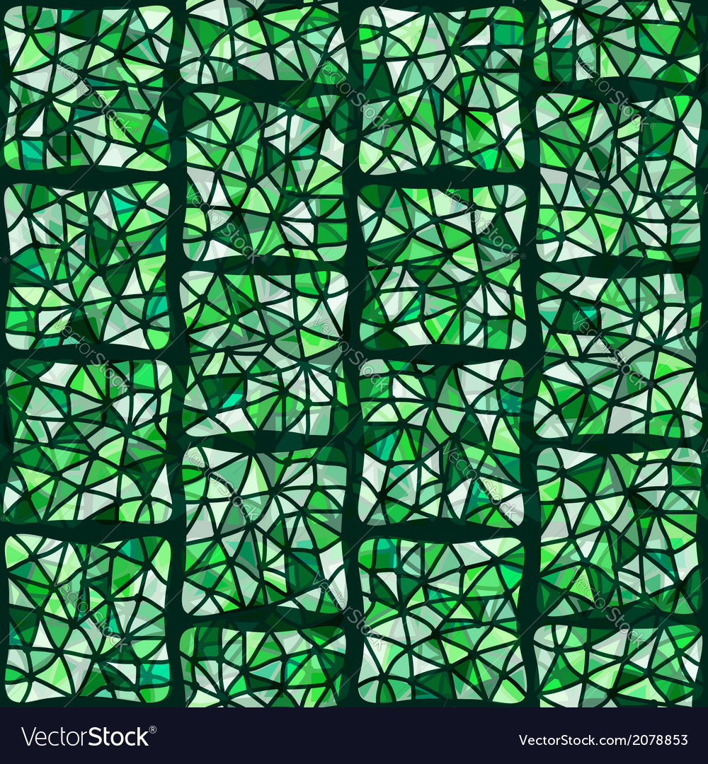 Green stained glass window vector | Price: 1 Credit (USD $1)
