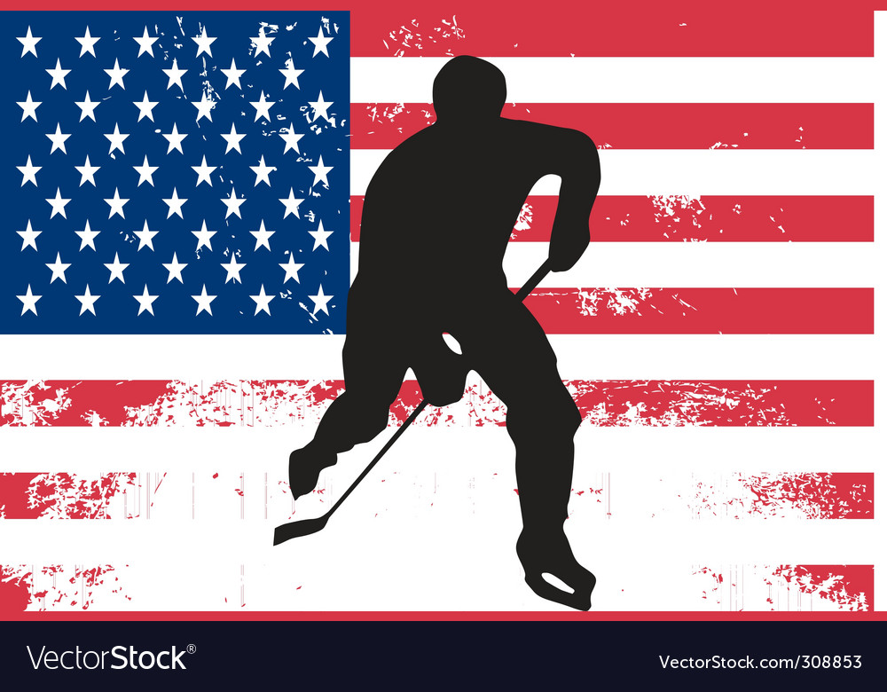 Hockey player vector | Price: 1 Credit (USD $1)