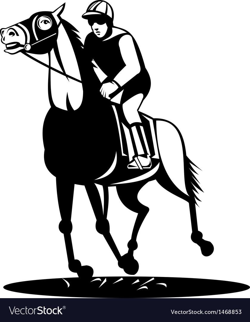 Horse and jockey racing vector | Price: 1 Credit (USD $1)