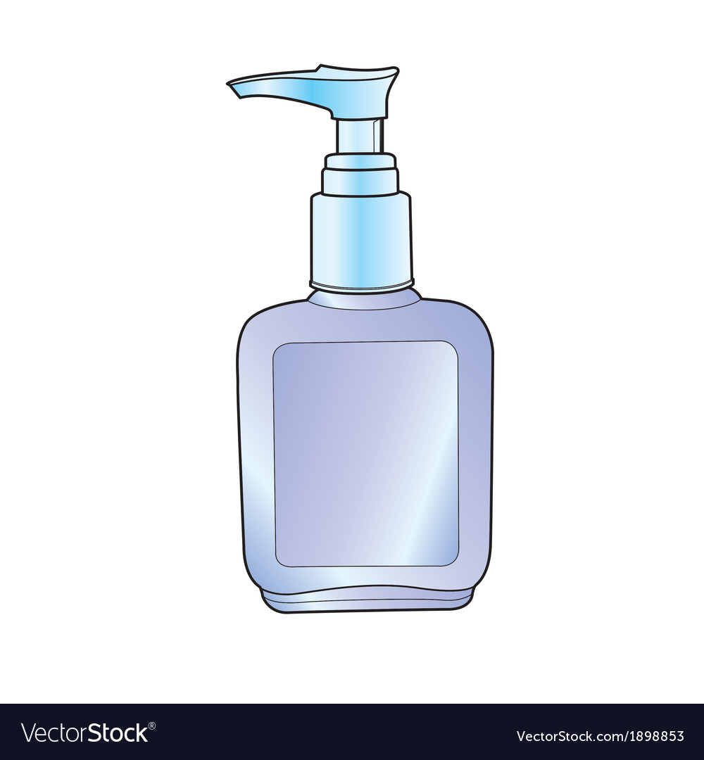 Lotion pump bottle vector | Price: 1 Credit (USD $1)