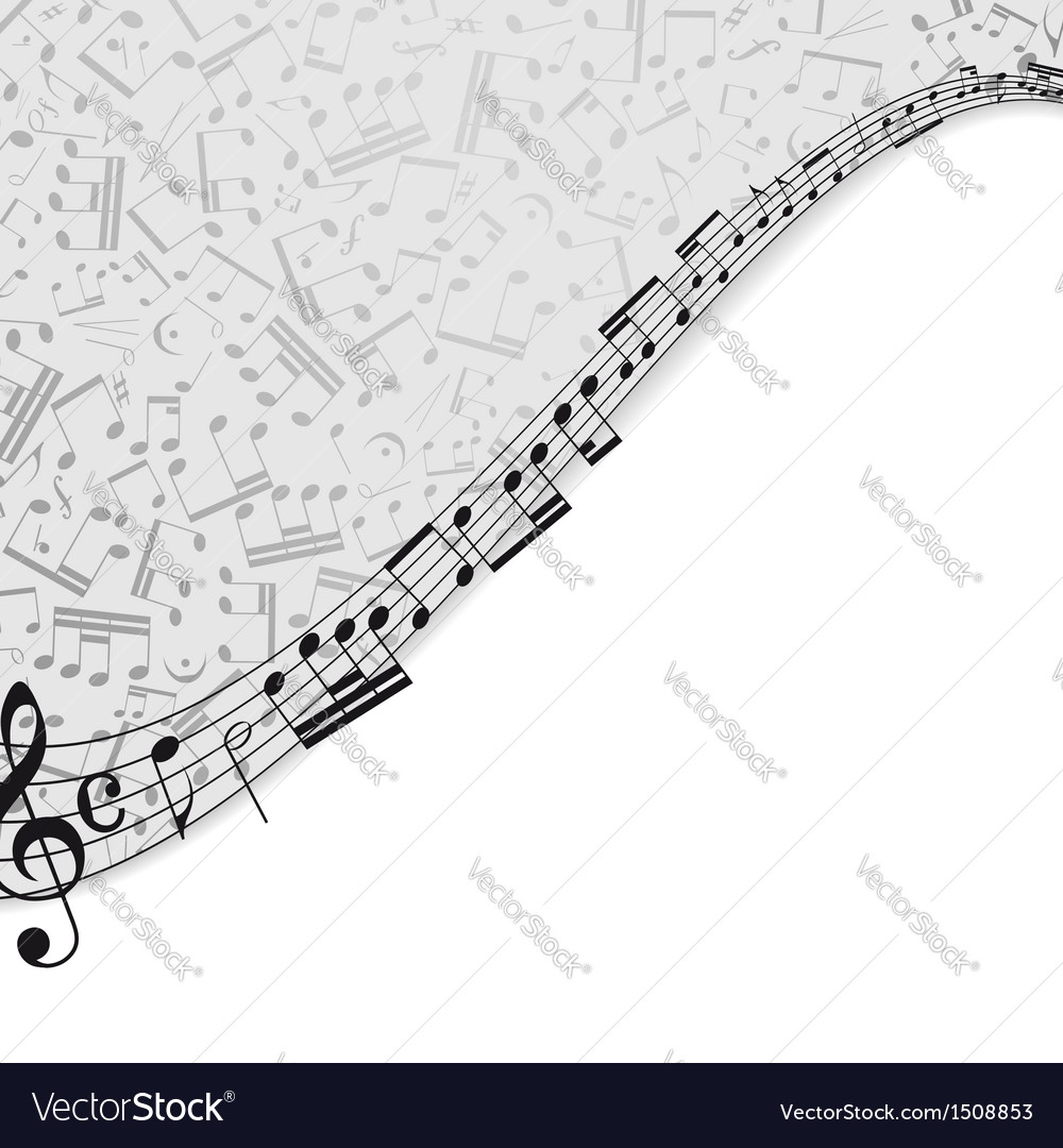 Notes musical background vector | Price: 1 Credit (USD $1)