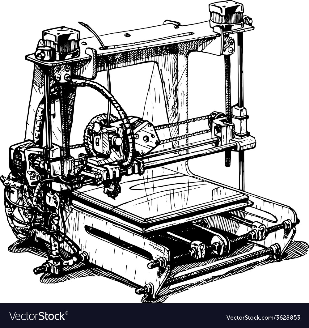 Plastic 3d printer vector | Price: 1 Credit (USD $1)