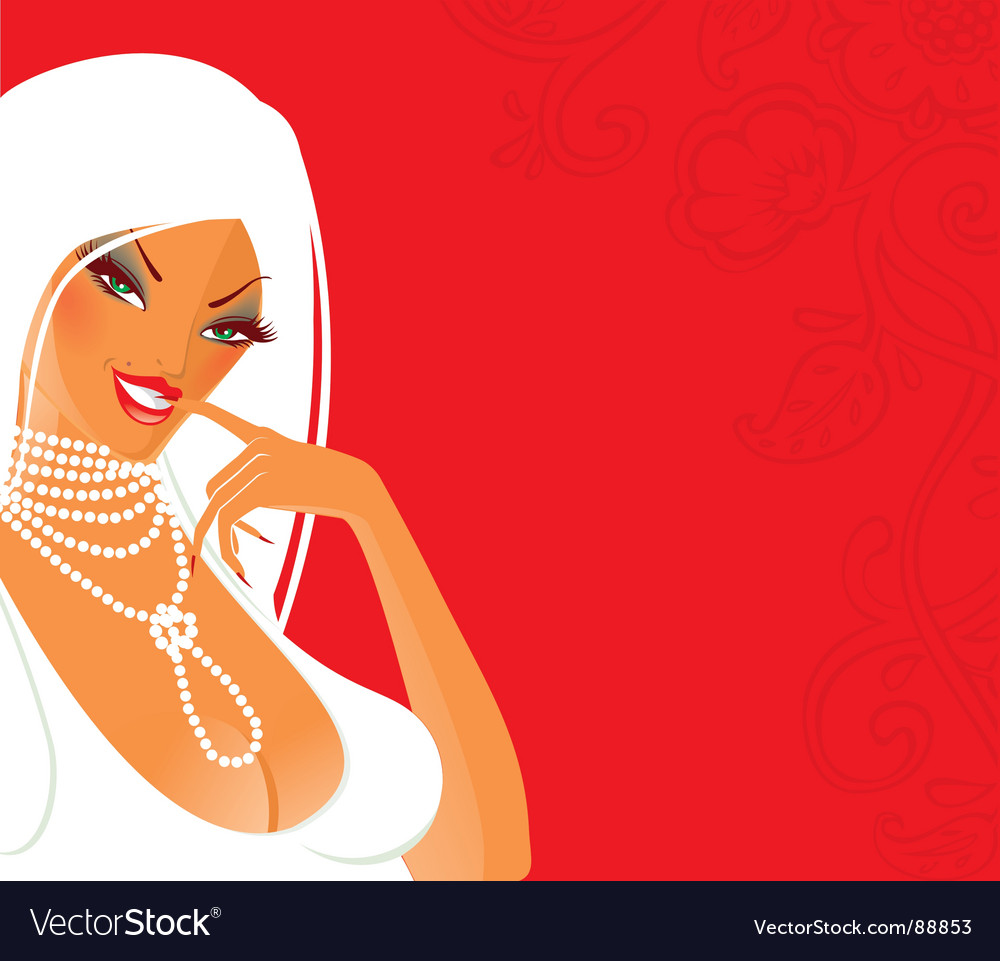 Red girl vector | Price: 3 Credit (USD $3)