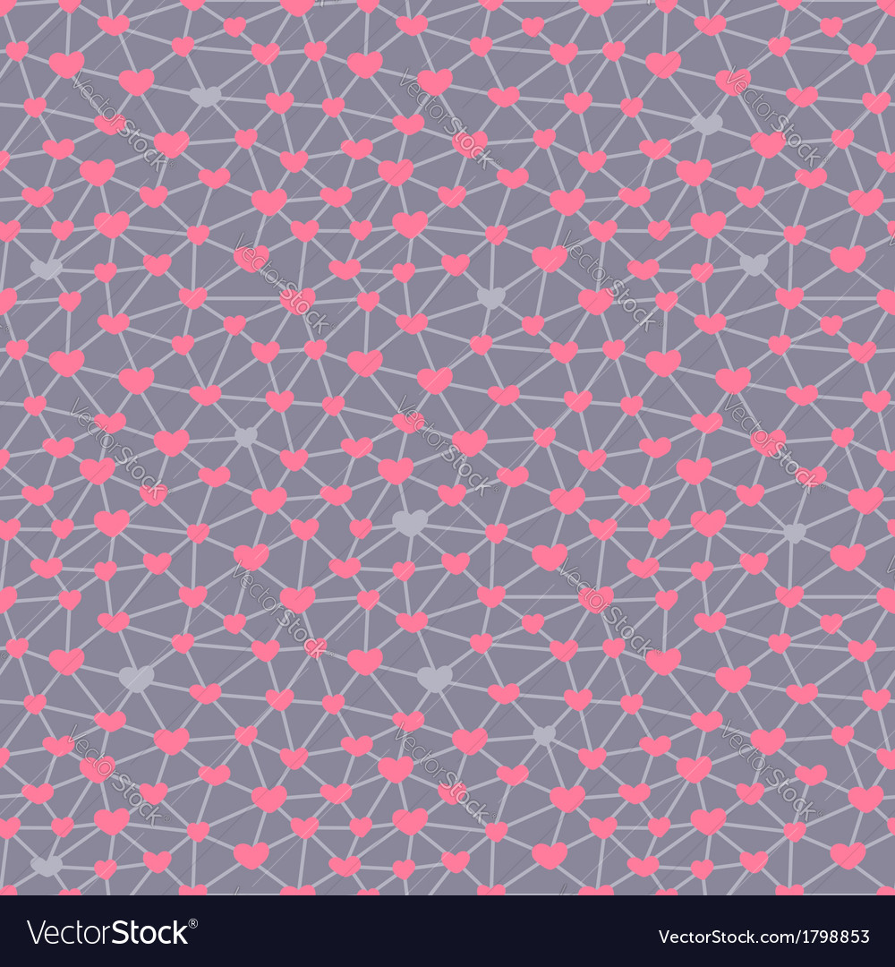 Seamless pattern with hearts linked together vector   Price: 1 Credit (USD $1)