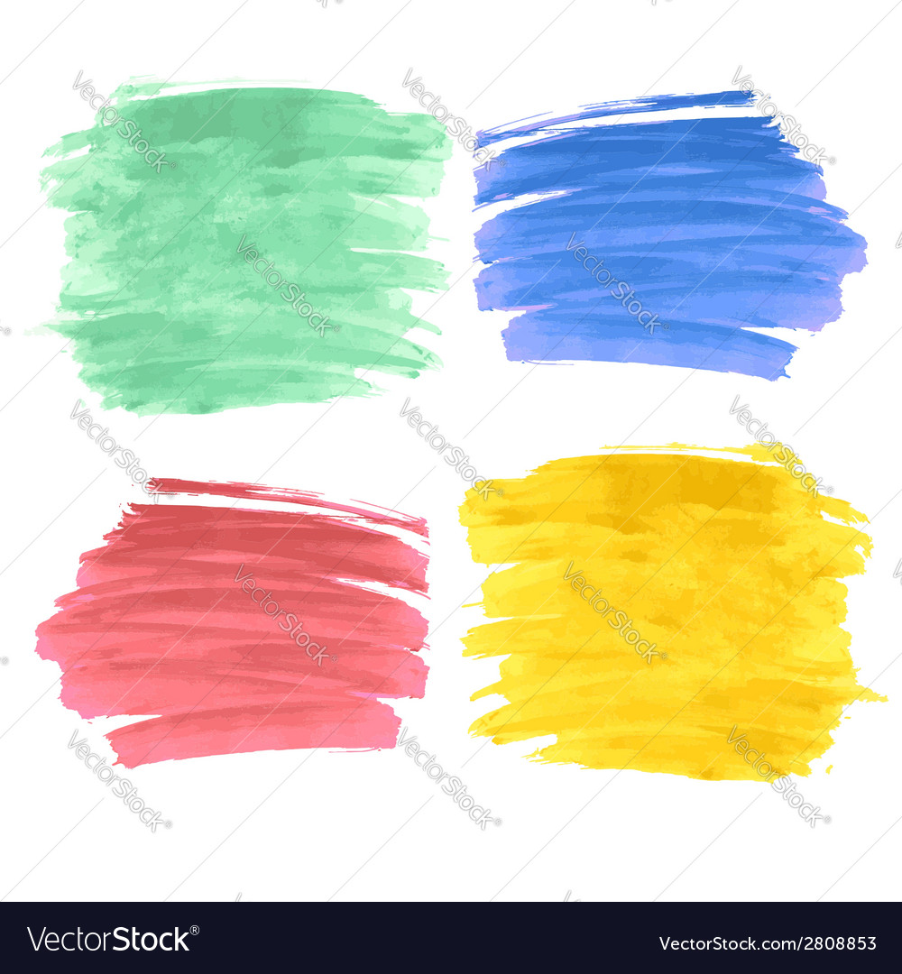 Set of four paint strokes vector | Price: 1 Credit (USD $1)