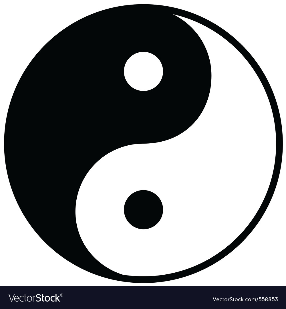 Ying yang symbol of harmony and balance vector | Price: 1 Credit (USD $1)