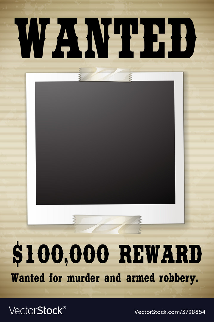 A wanted poster vector | Price: 1 Credit (USD $1)
