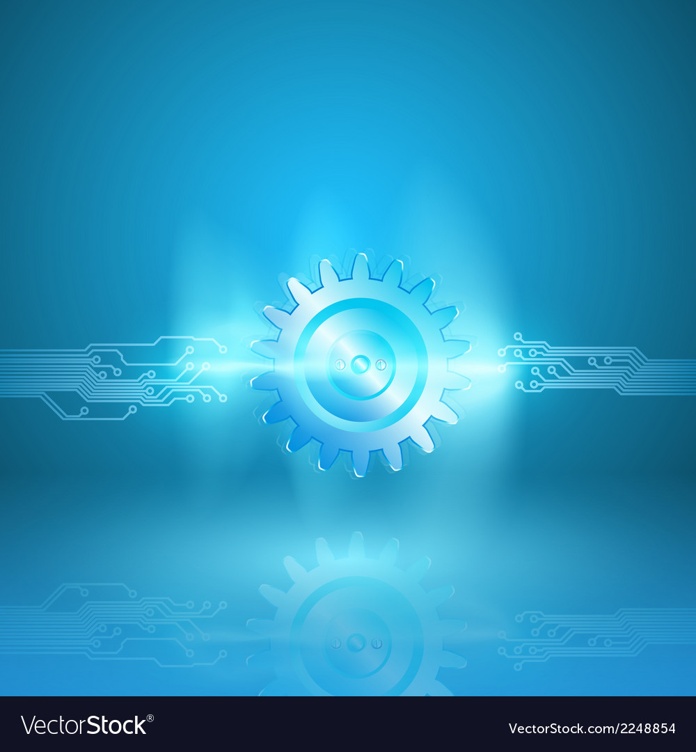 Abstract blue background with a circuit board vector | Price: 1 Credit (USD $1)