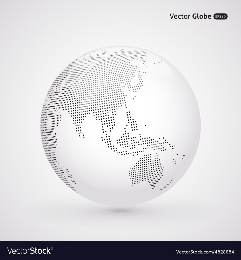 Abstract dotted globe central heating views over vector | Price: 1 Credit (USD $1)
