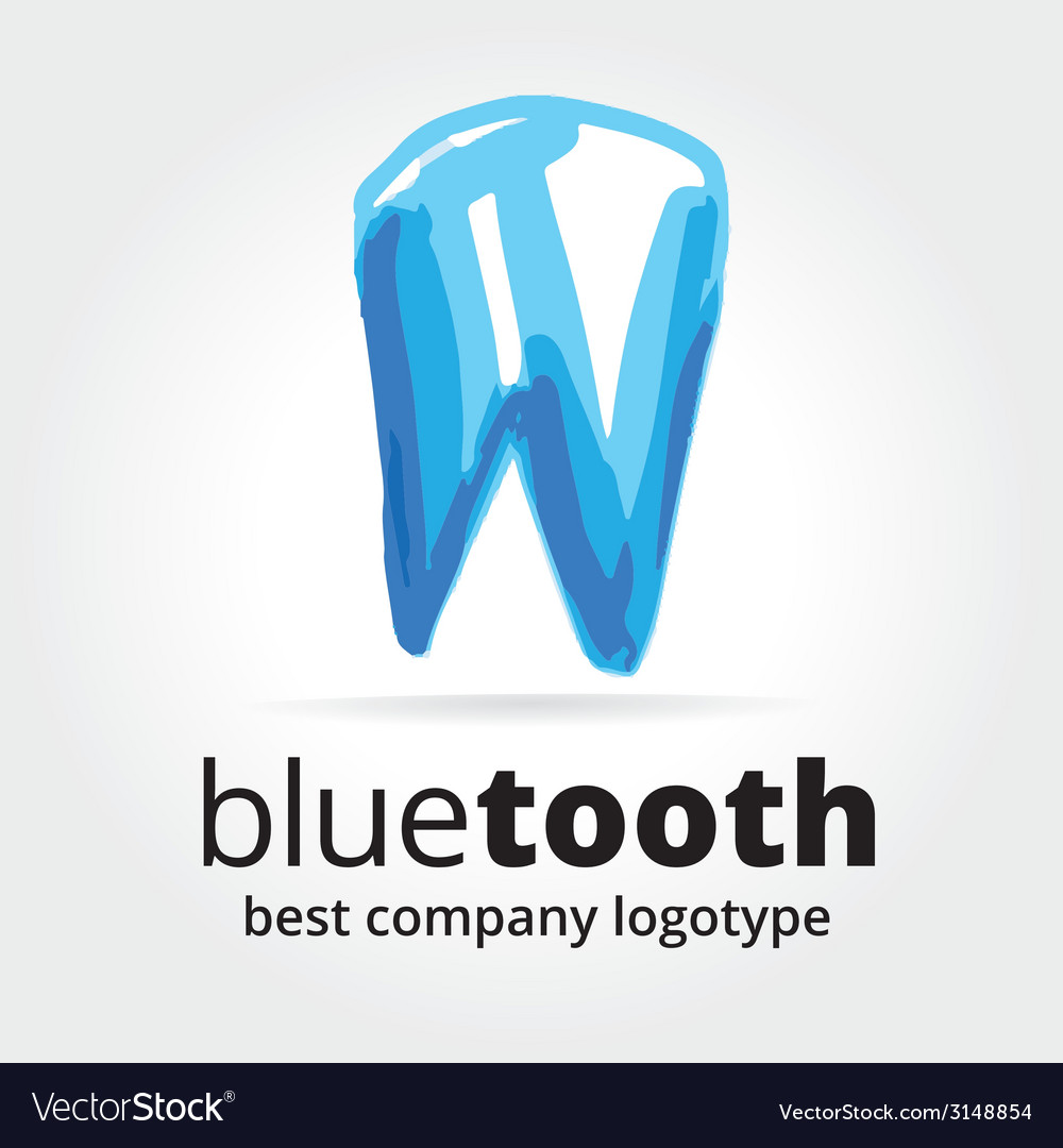 Abstract tooth logotype concept isolated on white vector | Price: 1 Credit (USD $1)