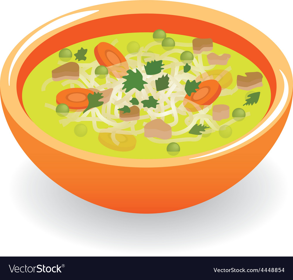 Beef broth soup vector | Price: 1 Credit (USD $1)
