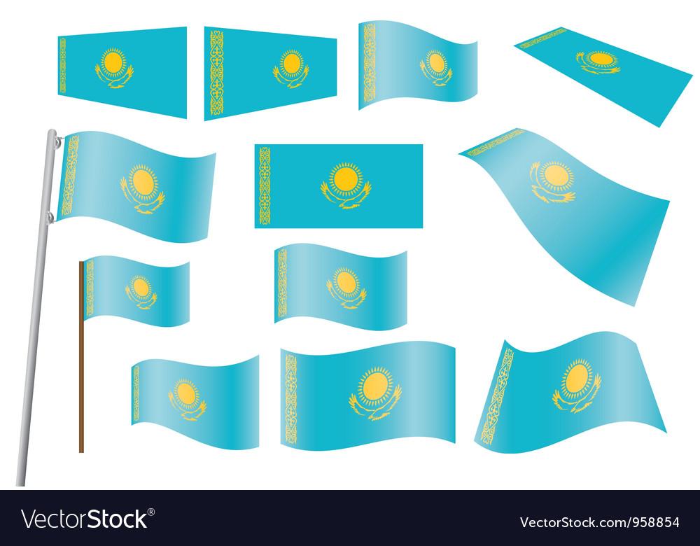 Flag of kazakhstan vector   Price: 1 Credit (USD $1)
