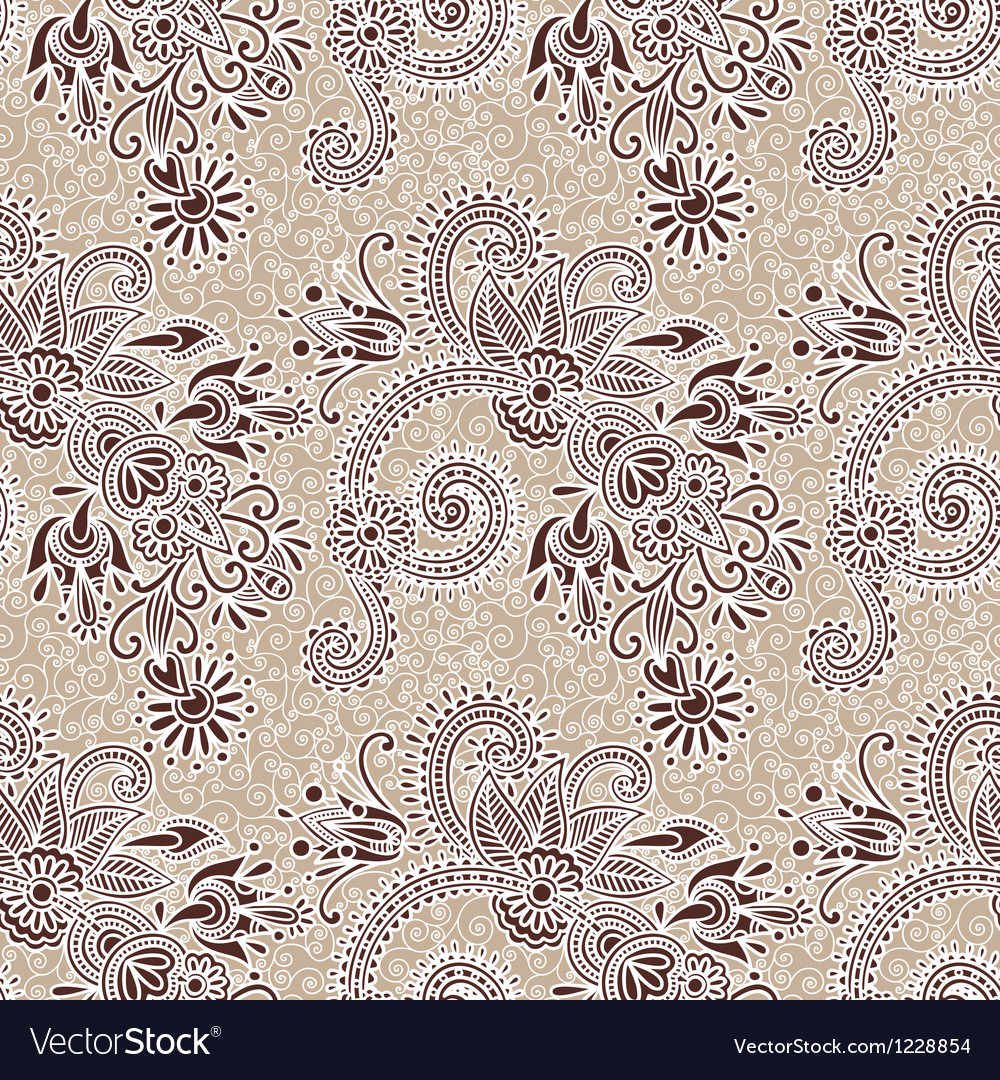 Hand draw ornate seamless pattern vector | Price: 1 Credit (USD $1)