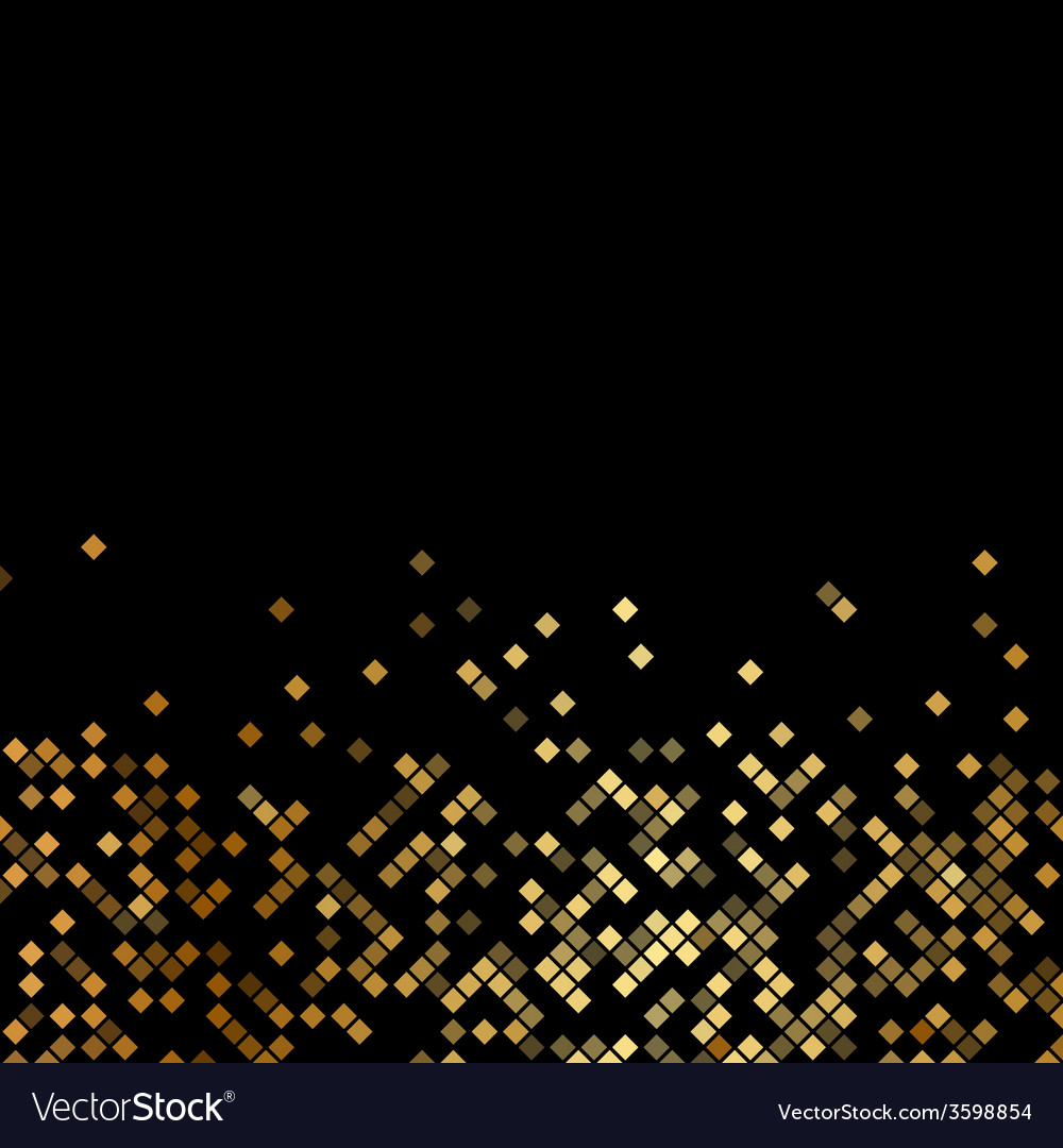 Luxury black background with gold sparklers vector | Price: 1 Credit (USD $1)