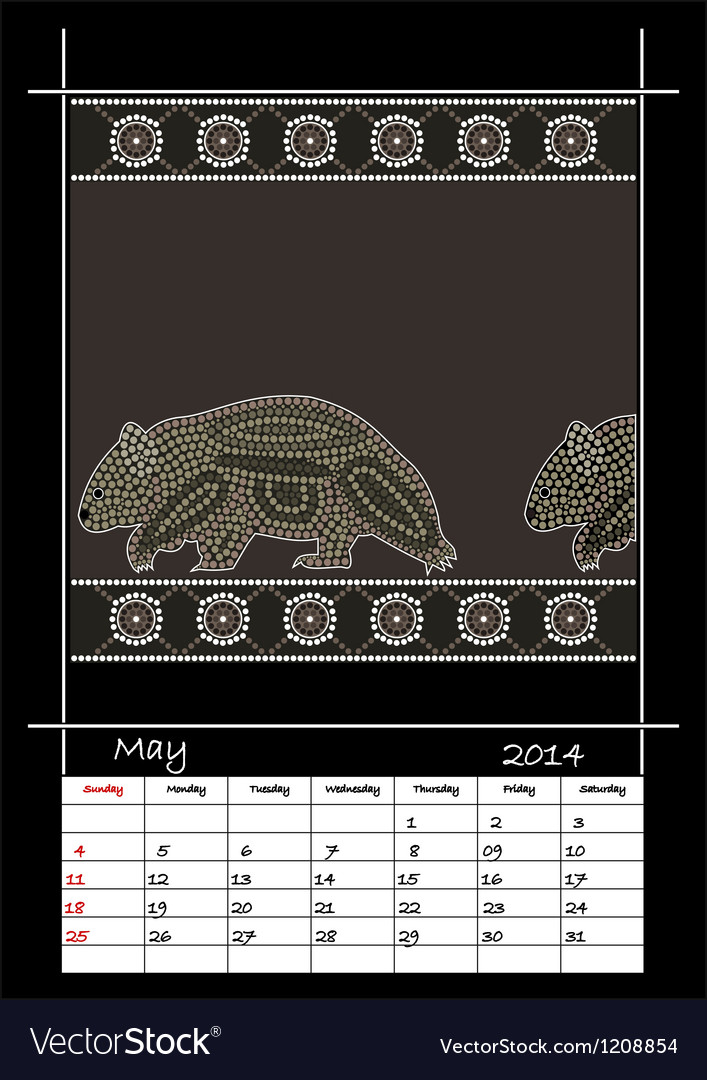May 2014 - wombat vector | Price: 1 Credit (USD $1)