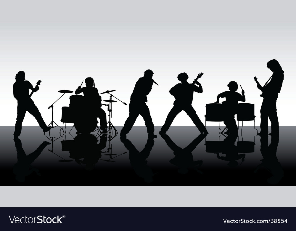 Rock band silhouettes vector | Price: 1 Credit (USD $1)