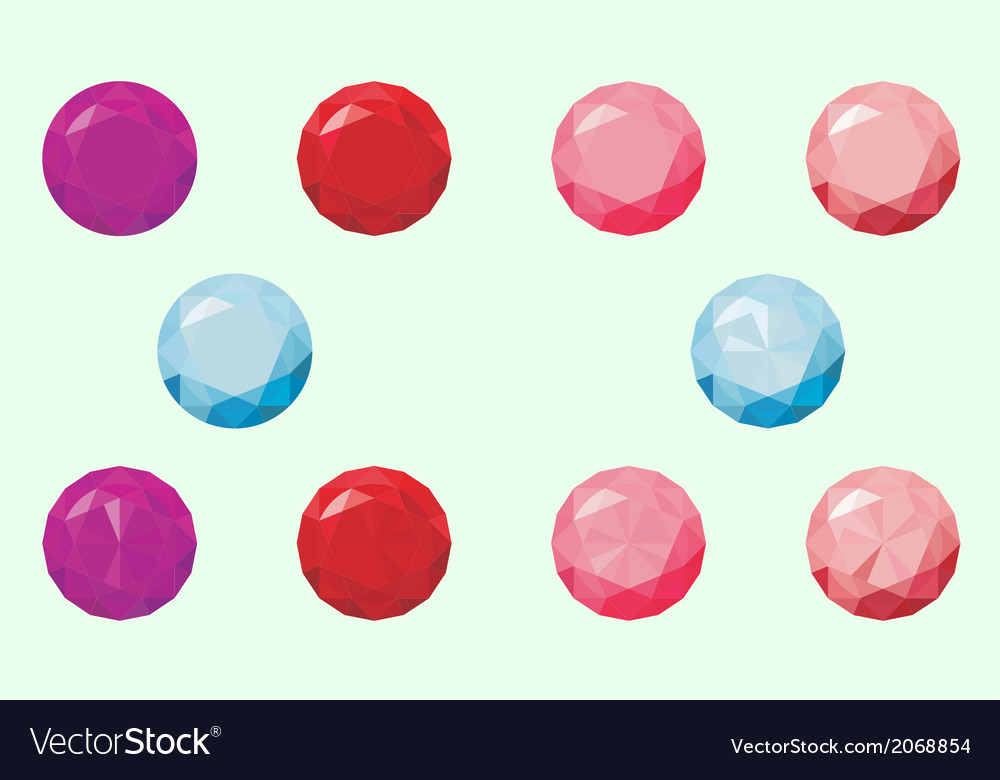 Round gems vector | Price: 1 Credit (USD $1)