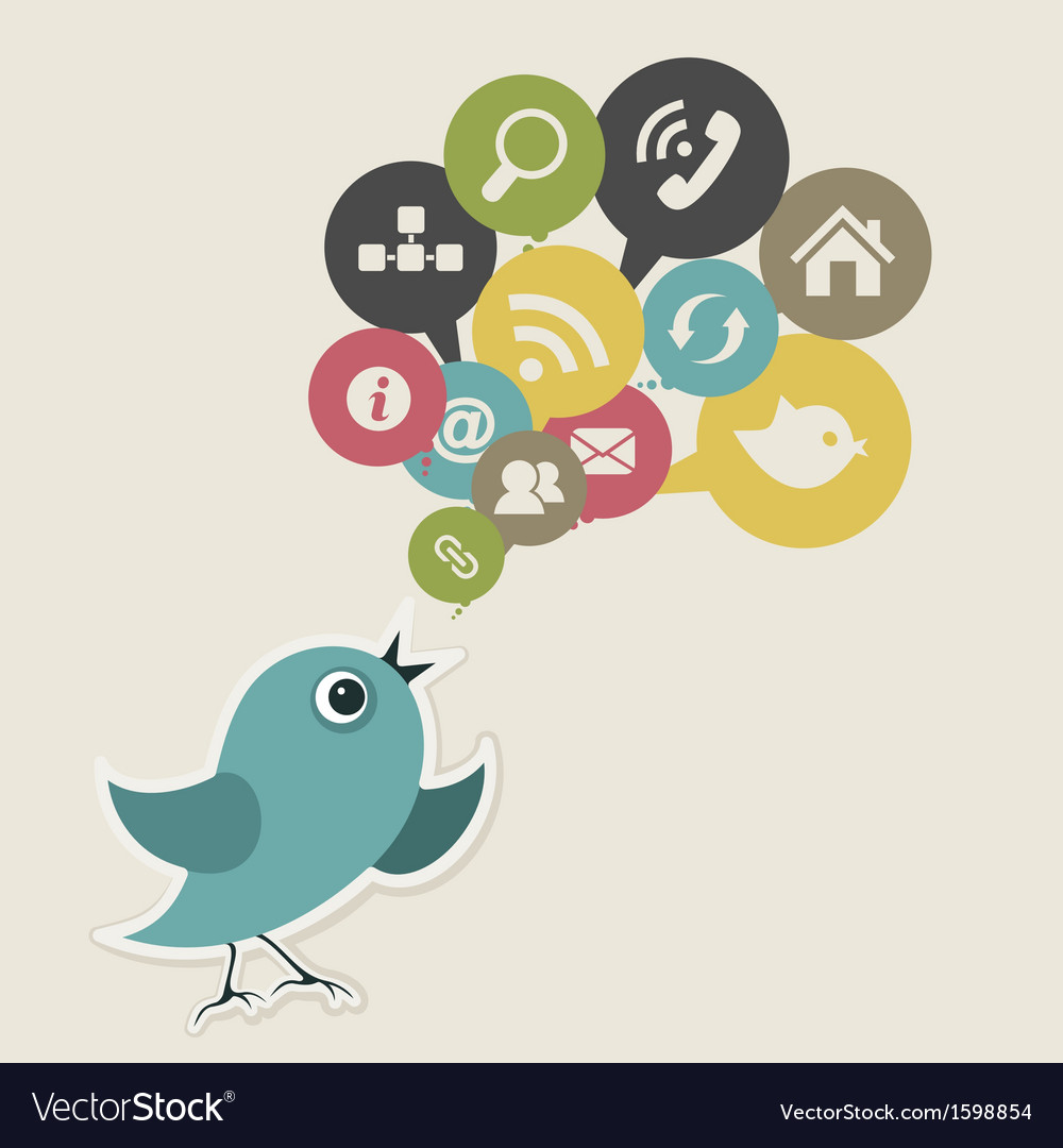 Social bird vector | Price: 1 Credit (USD $1)
