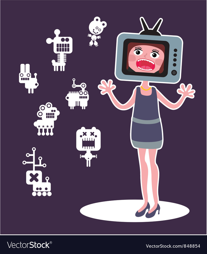 Tv lady vector | Price: 3 Credit (USD $3)