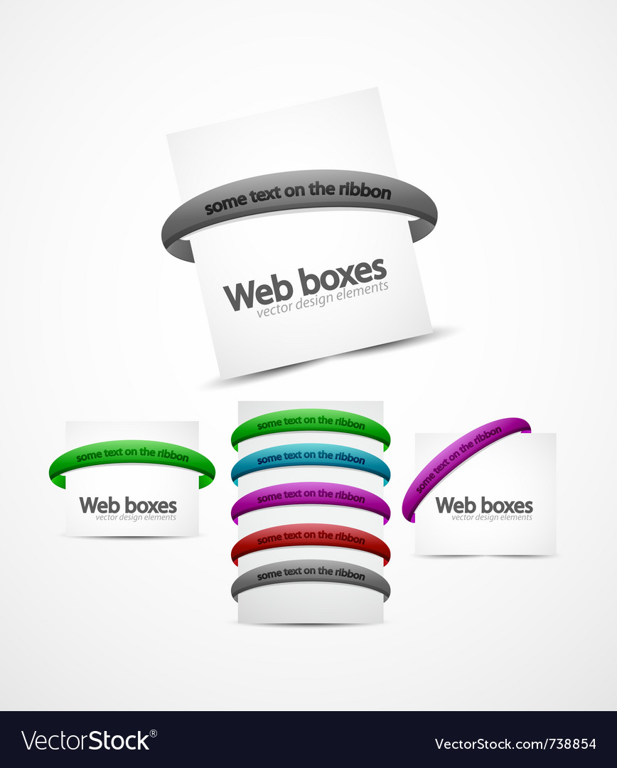 Web boxes vector | Price: 1 Credit (USD $1)
