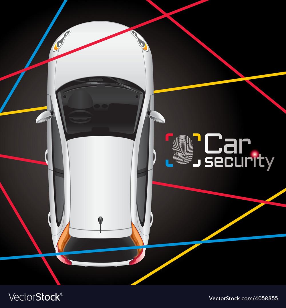 Car laser security vector | Price: 3 Credit (USD $3)