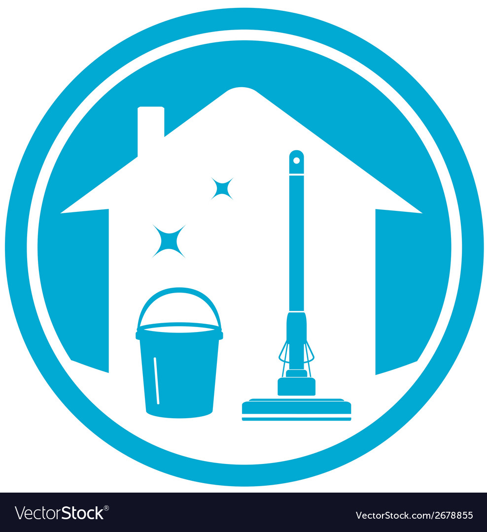 Cleaning house icon vector | Price: 1 Credit (USD $1)