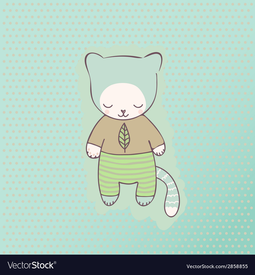 Cute cat clothing vector | Price: 1 Credit (USD $1)