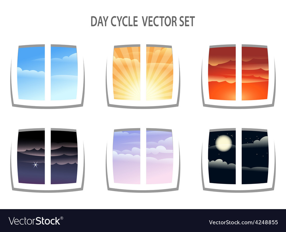 Day cycle vector | Price: 1 Credit (USD $1)