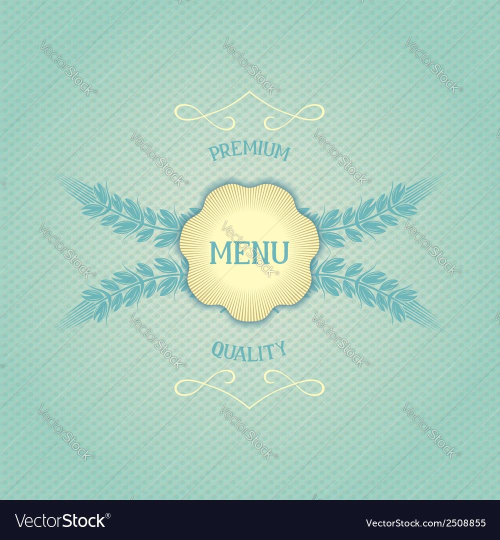 Design menu for restaurant vector | Price: 1 Credit (USD $1)