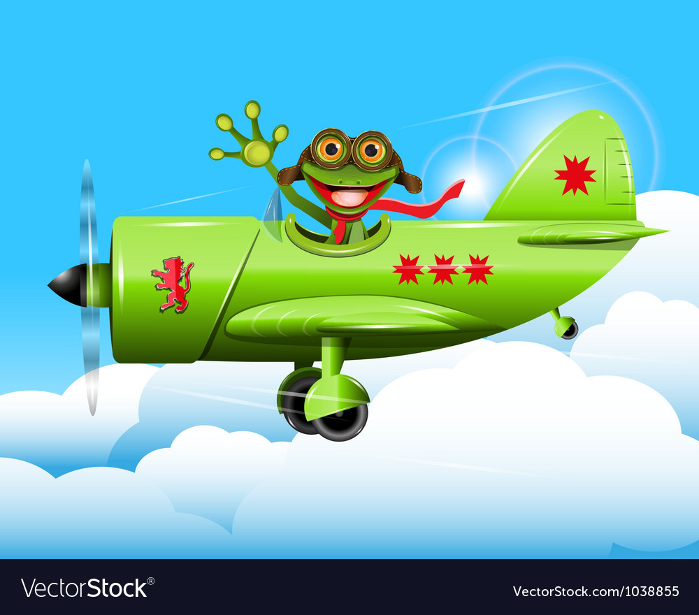 Frog pilot vector | Price: 3 Credit (USD $3)