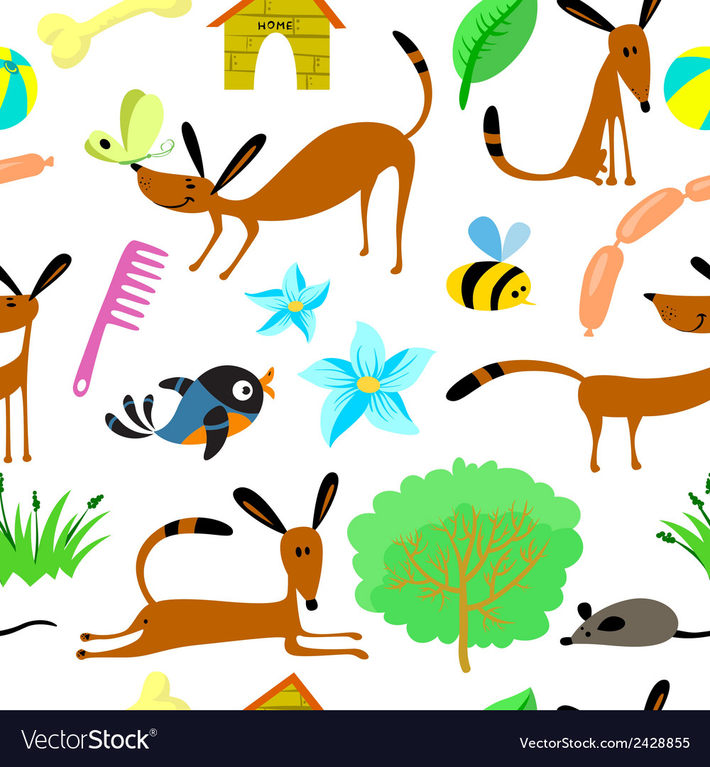 Pattern with animals vector | Price: 1 Credit (USD $1)