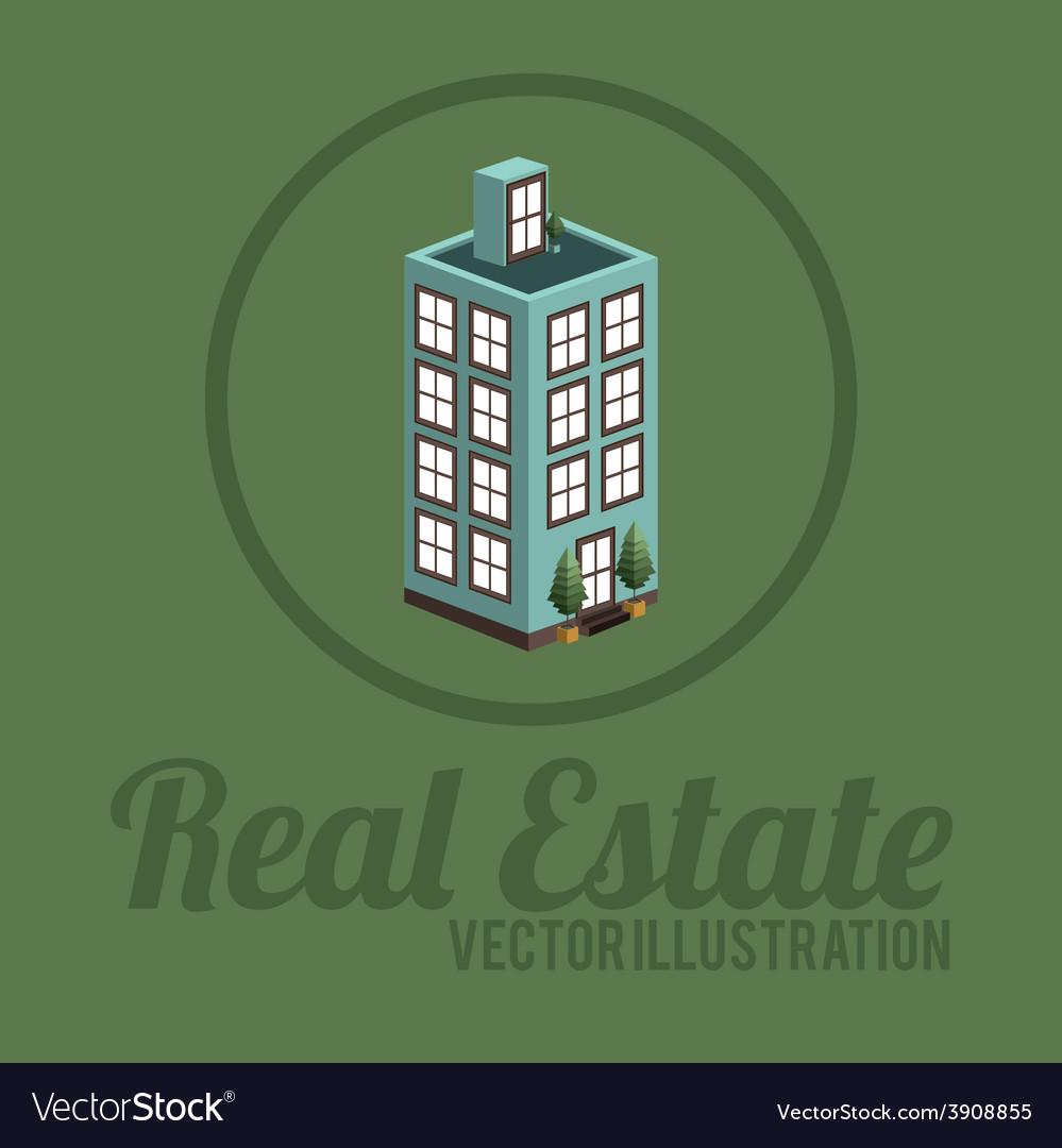 Real estate design over green background vector | Price: 1 Credit (USD $1)