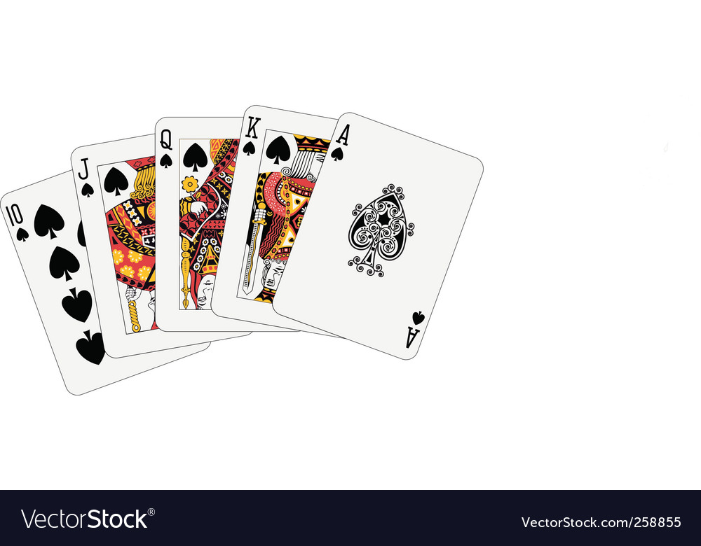 Royal flush spade vector | Price: 1 Credit (USD $1)