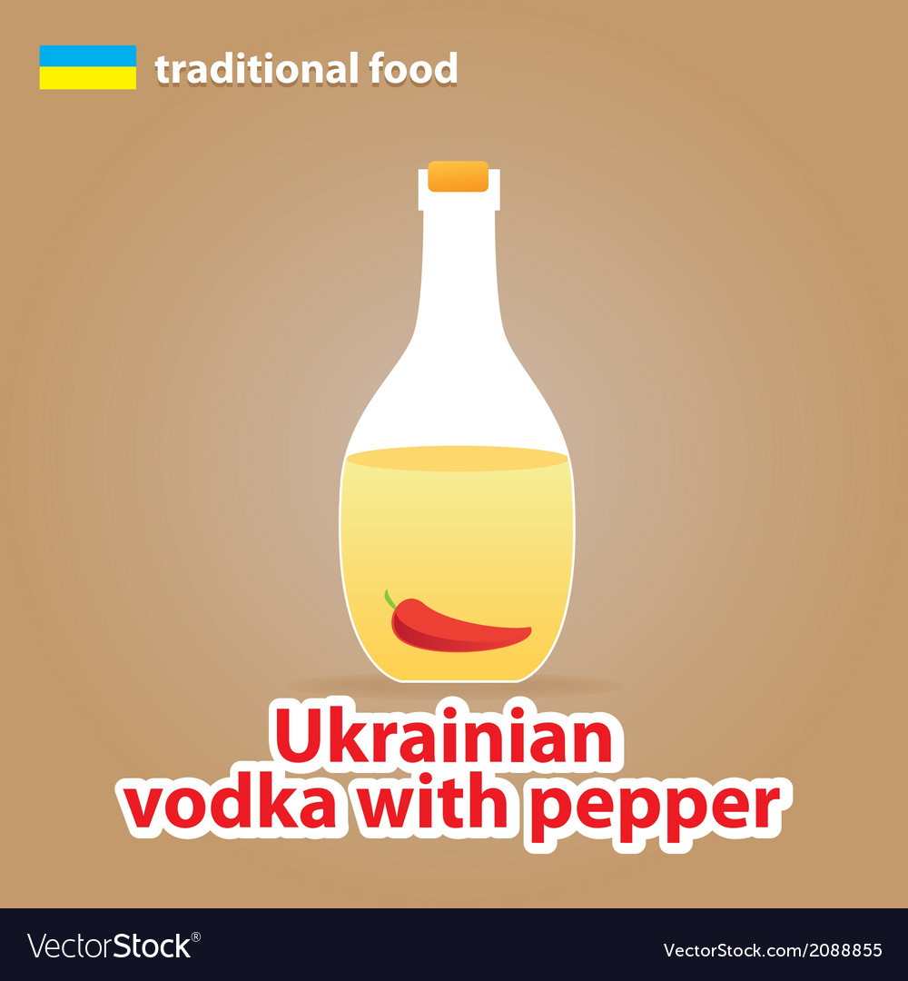 Ukrainian vodka vector | Price: 1 Credit (USD $1)