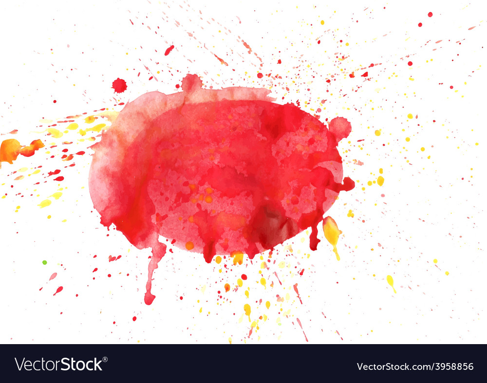 Abstract stains watercolor banner red and vector | Price: 1 Credit (USD $1)
