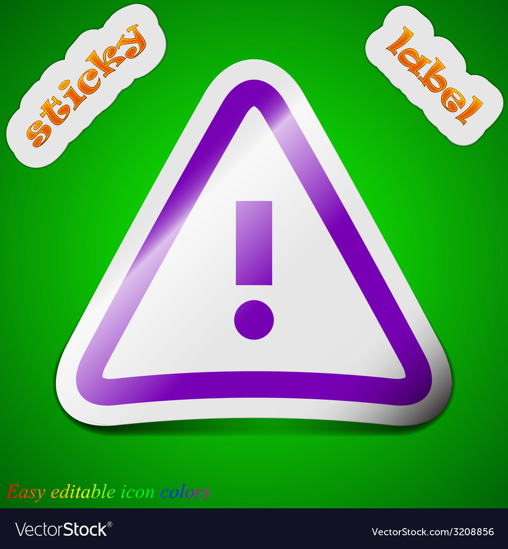 Attention caution icon sign symbol chic colored vector | Price: 1 Credit (USD $1)