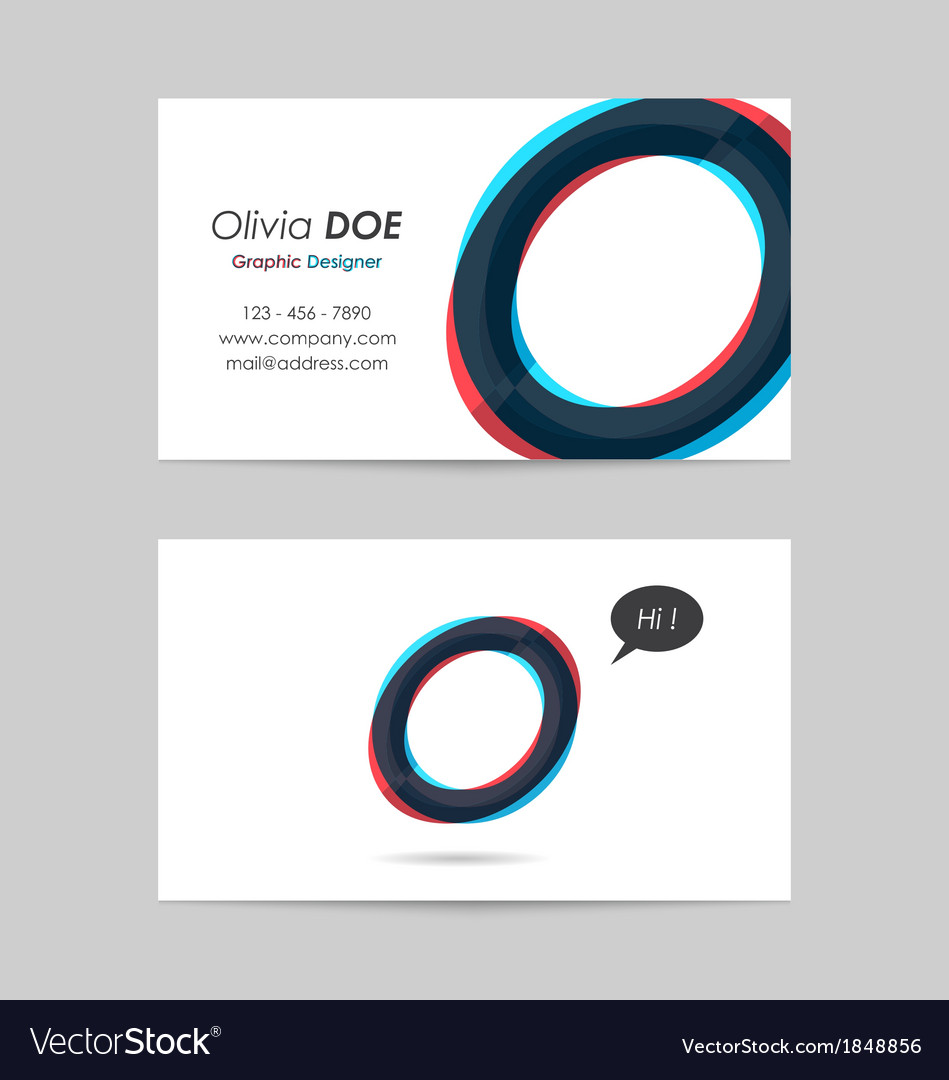 Business card template - letter o vector   Price: 1 Credit (USD $1)