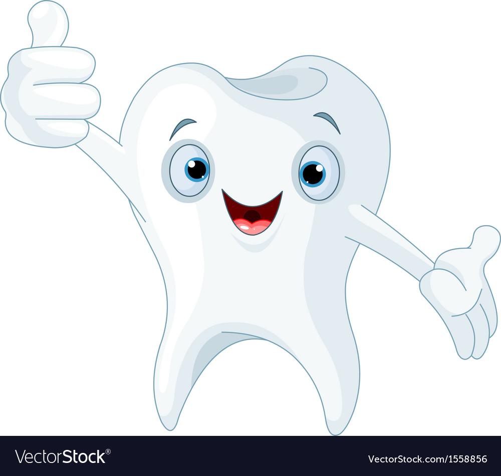 Cartoon tooth vector | Price: 1 Credit (USD $1)